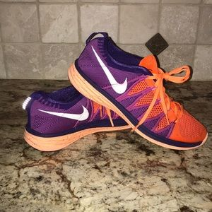 Women's Nike Flyknit Lunar 2 Orange & Purple
